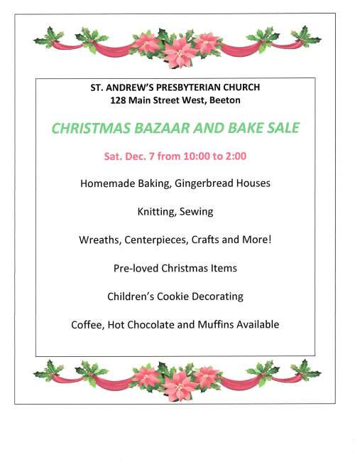 BAZAAR AND BAKE SALE